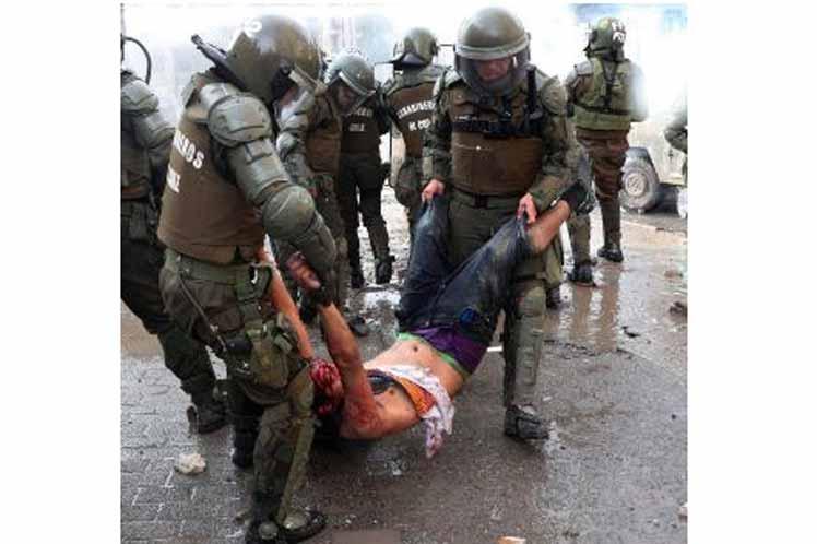 Ascienden a tres mil 557 los heridos por represión en Chile