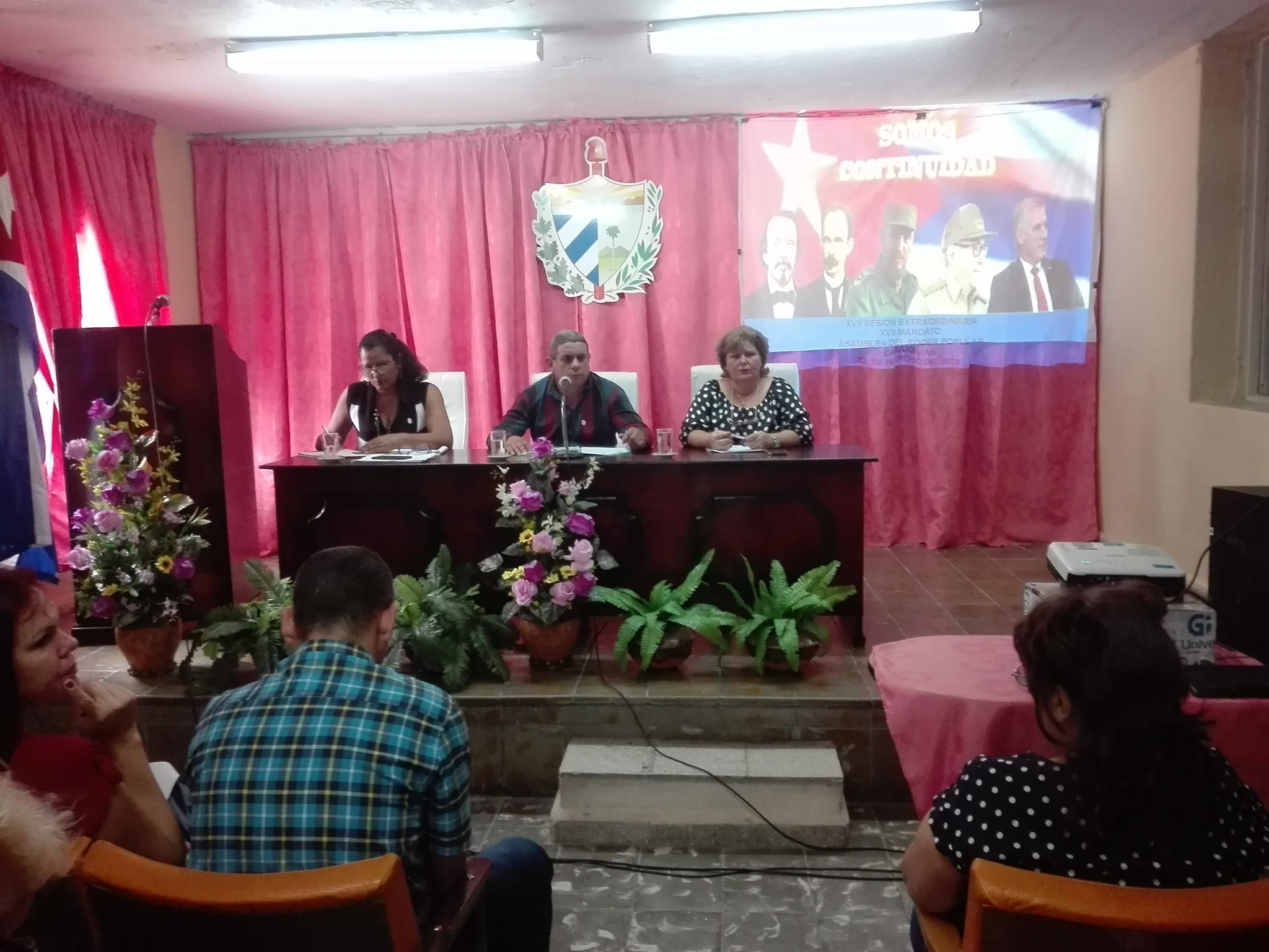 Celebran Sesión Ordinaria de la Asamblea Municipal del Poder Popular en Cabaiguán