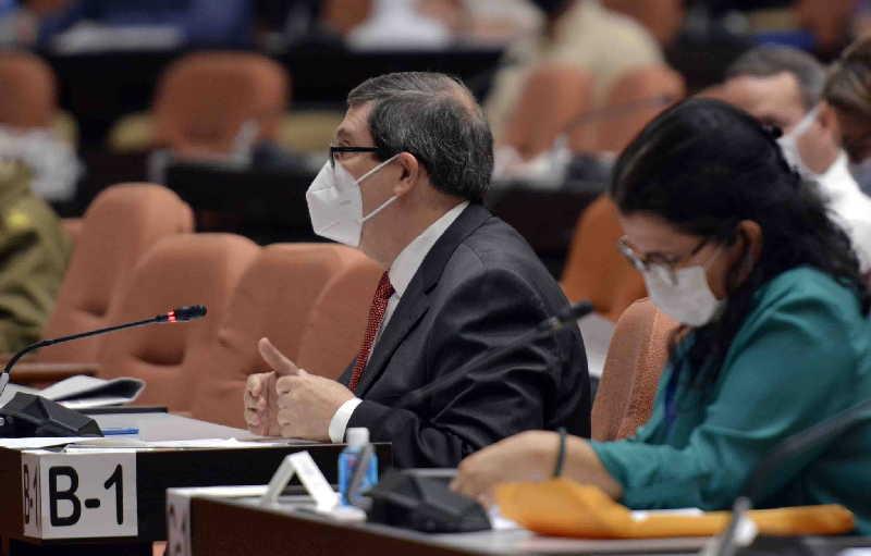 bruno rodriguez en la asamblea nacional de este 26 de octubre de 2020 foto asamblea nacional
