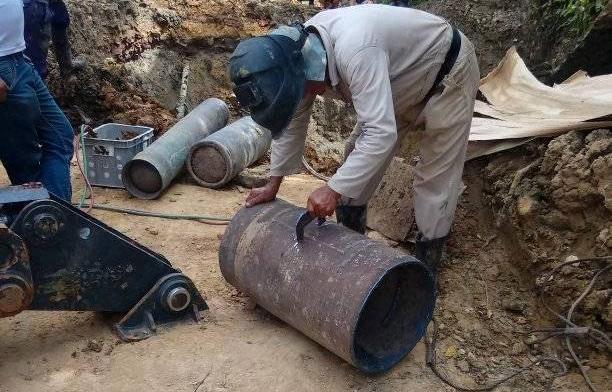 Trabajan en San Juan de Letrán para restablecer el servicio de agua a parte de Trinidad